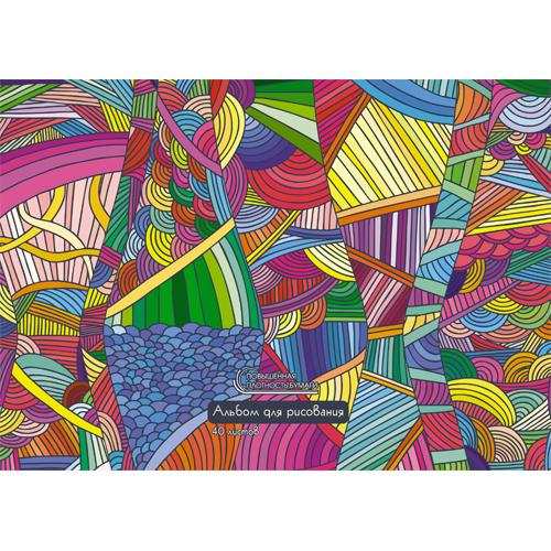 Альбом д/рис 40л спир Яркий калейдоскоп 120г/м2