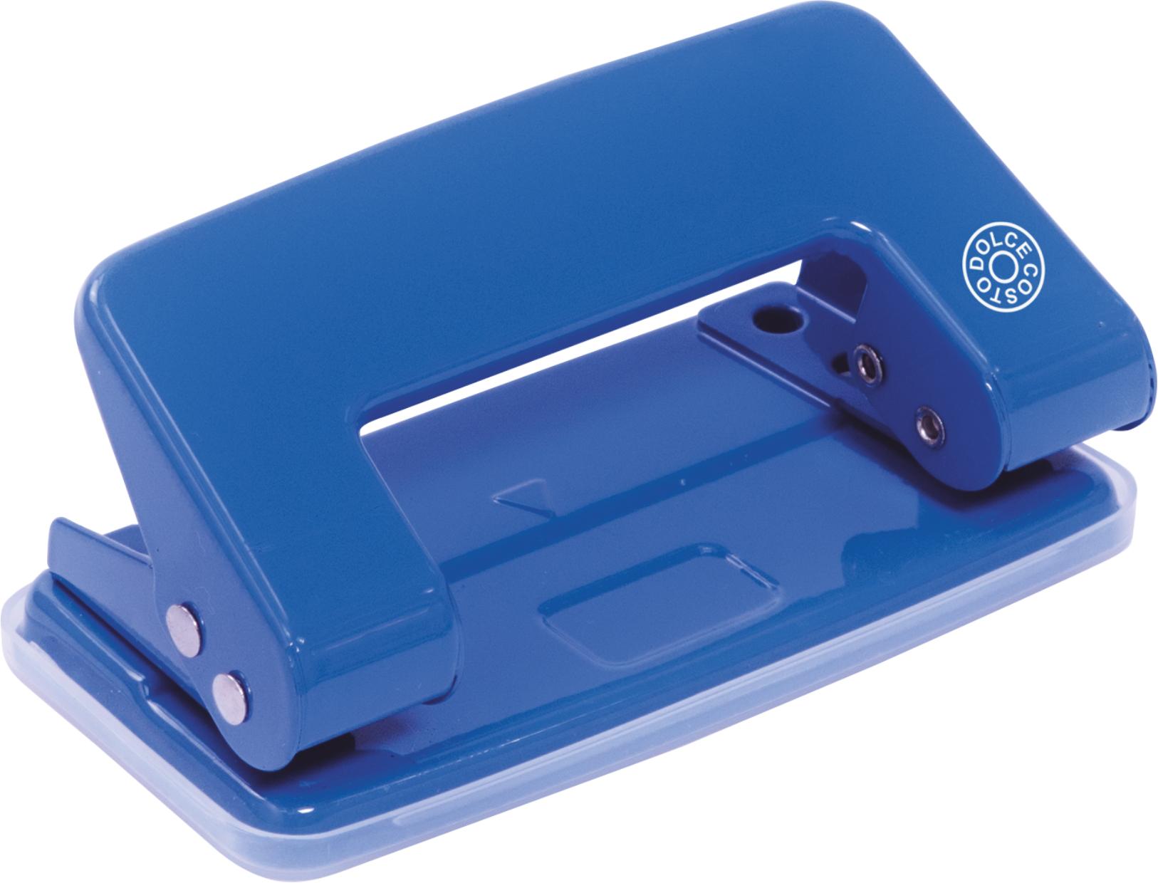 Дырокол 10л Dolce Costo синий метал корпус