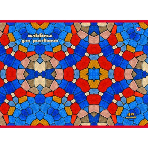 Альбом д/рис 40л Яркая мозаика склейка