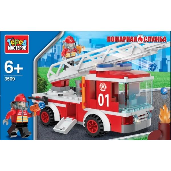 АКЦИЯ-20 Игр Конструктор Пожарная машина с фигуркой пластмас.
