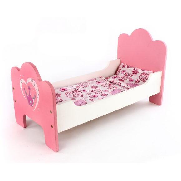 Кроватка для куклы Корона дерев. 53*28*20см