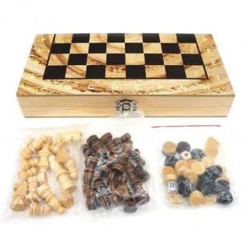 Настольная 3в1 Шахматы, шашки, нарды, поле 40х40см
