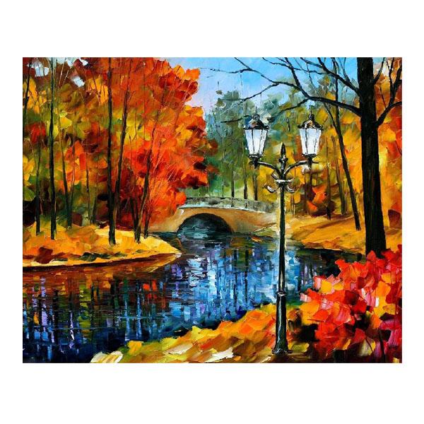 Картина по номерам 40*50 Осенний парк