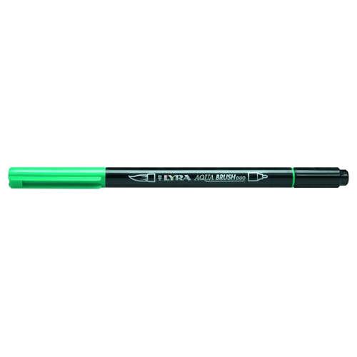 Фломастеры акварельные 1цв Lyra Aqua Brush Duo двойные Изумрудно-зелен