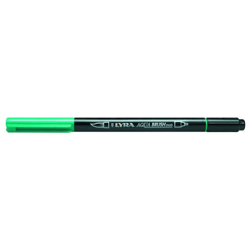 Фломастеры акварельные 1цв Lyra Aqua Brush Duo двойные Темно-зеленый