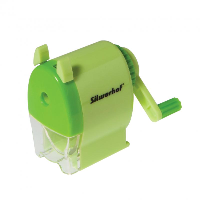 Точилка механическая Silwerhof пластиковая зеленый