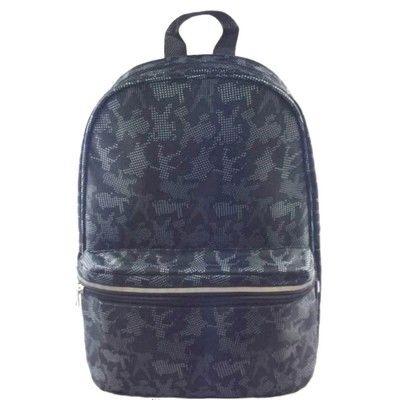 Рюкзак молодежный Хип-Хоп черный узор белый