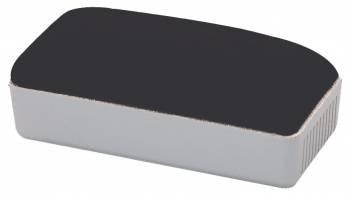 Губка для доски Deli 50*110мм серая магнитная