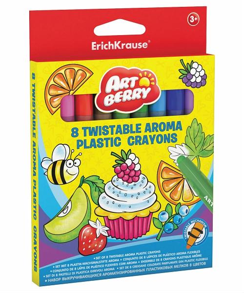 Мелки пластиковые 8цв EK Artberry Twistable Aroma к/к