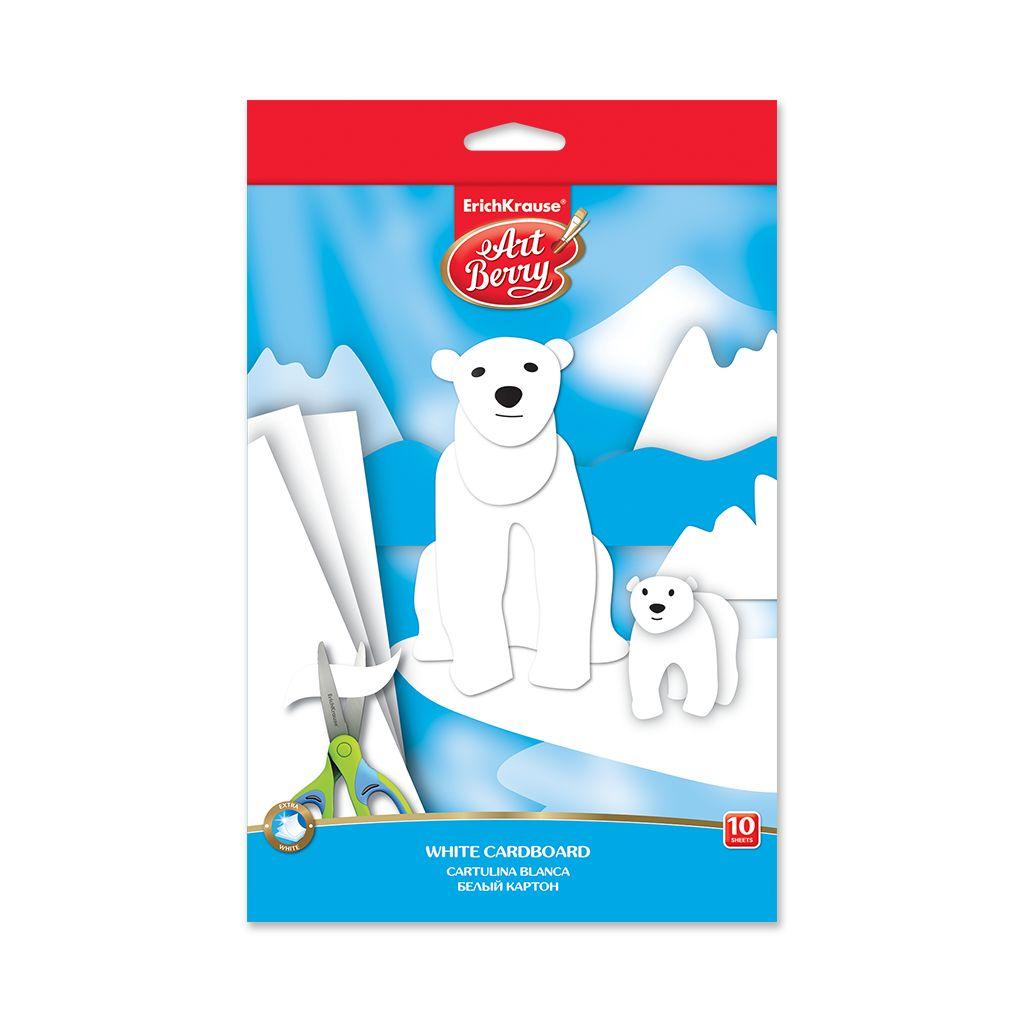 Картон белый В5 10л мелов EK ArtBerry Белые медведи (А5+)