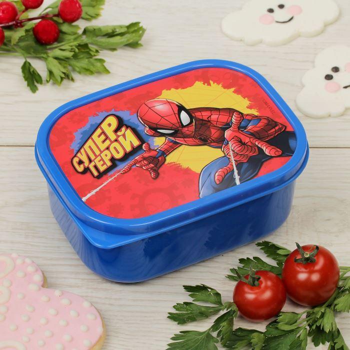 Контейнер для завтрака ланч-бокс 0,5л Супергерой
