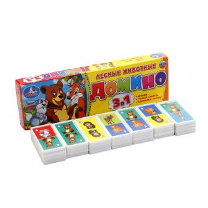 Игра Домино Лесные животные пластмас.