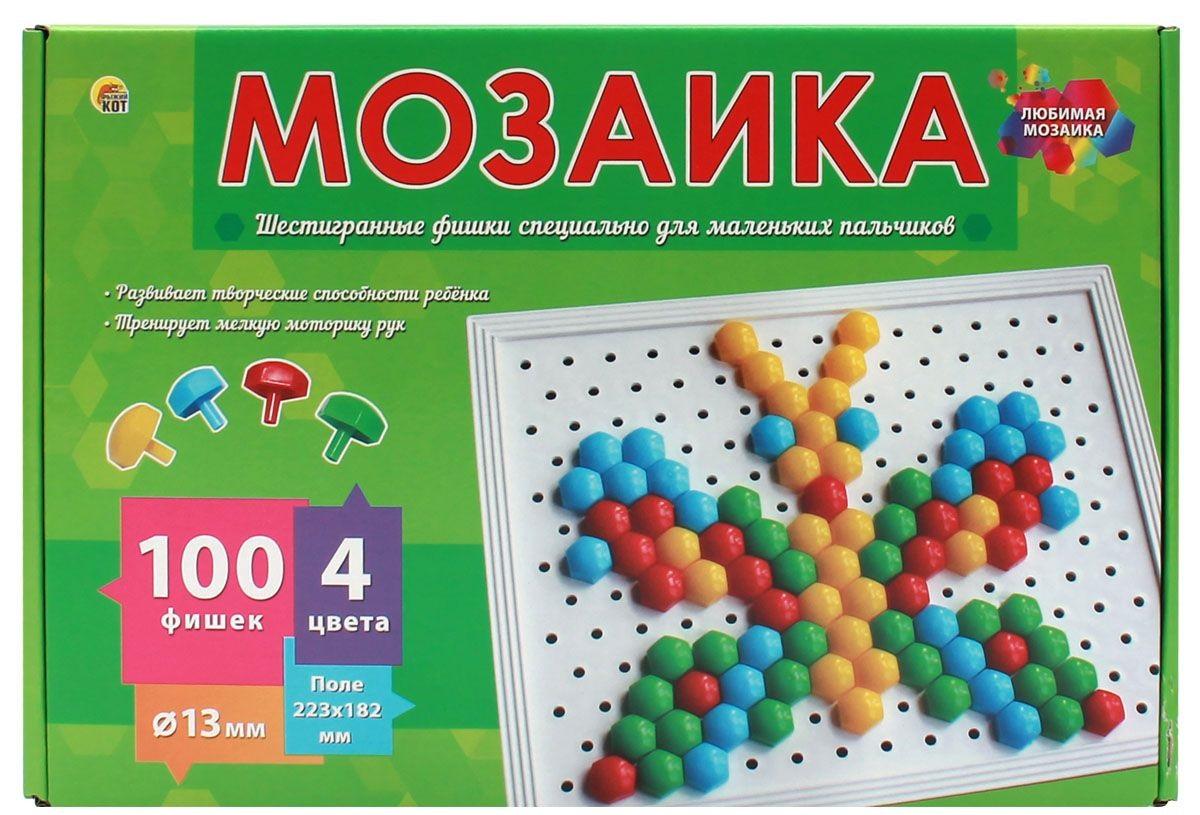 Мозаика 100 фишек d=13 пласт.