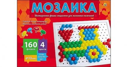Игра Мозаика 160 фишек d=13 мм пласт.