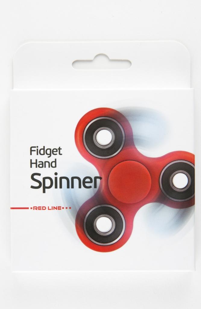 Спиннер Fidget Spinner пластик, красный