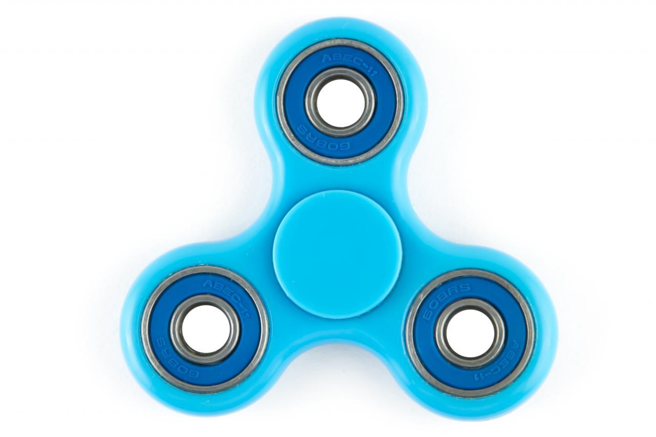 Спиннер Fidget Spinner пластик, синий