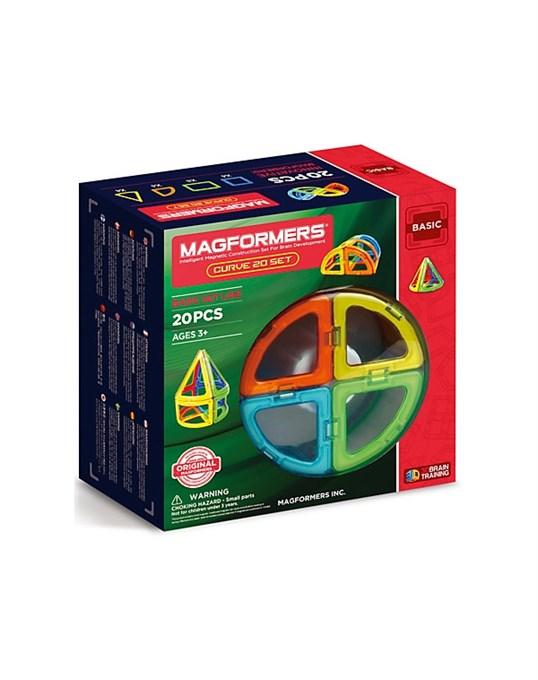 АКЦИЯ-20 Игр Конструктор магнитный Магформерс Curve 20 set