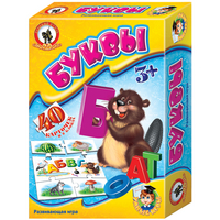 Игра Развивающая Буквы (8 блоков, 40 карточек)