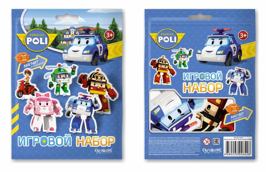 Настольная Robocar Poli Команда Поли (фигурки из картона)