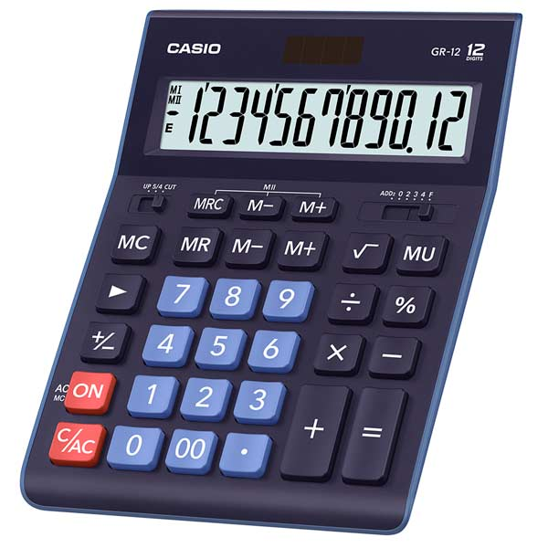 Калькулятор 12 разр. Casio настольный синий