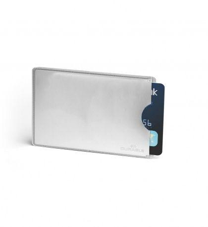 Чехол защитный для кредитных карт RFID SECURE серебристая