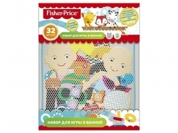 набор для купания Fisher Price Funny dressing room 32пр + мелки