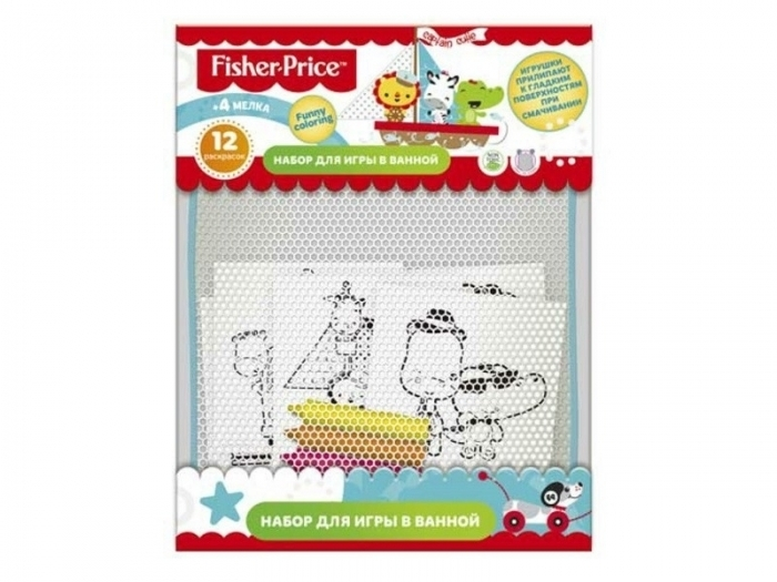 набор для купания Fisher Price Funny coloring 12 раскр + мелки