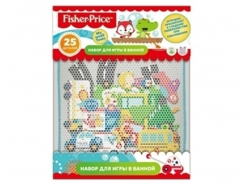 набор для купания Fisher Price My Small town 25пр + мелки