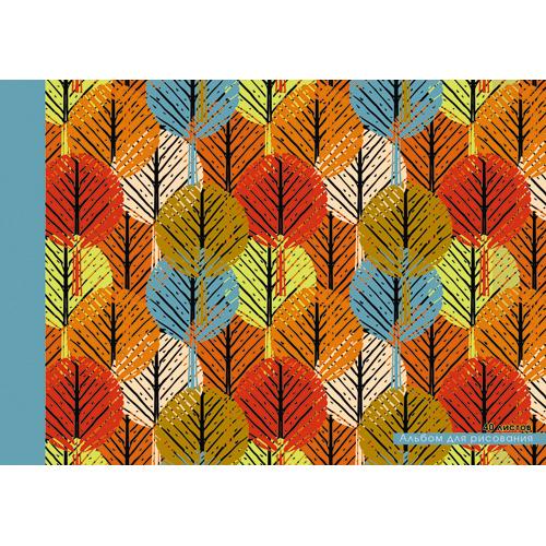 Альбом д/рис 40л Лесной орнамент склейка