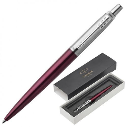 Ручка подар. Parker Jotter Portobello Purple CT синяя автомат 1мм борд