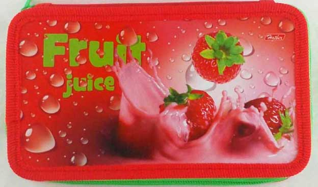 Пенал 2 отд пуст Fruit juice