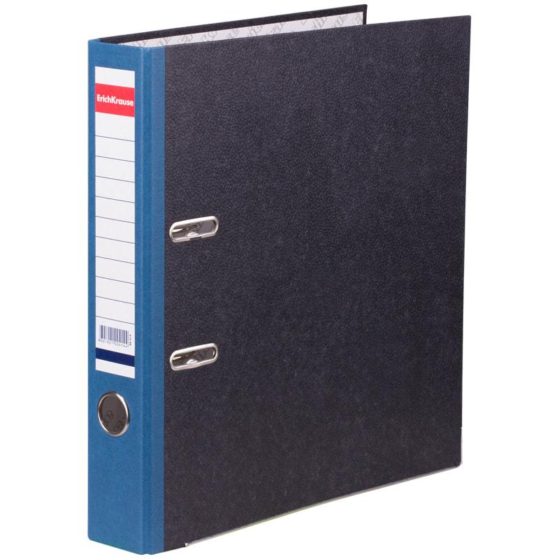 Папка-регистратор 50мм EK Original синий ребр. с 2-мя кольцами