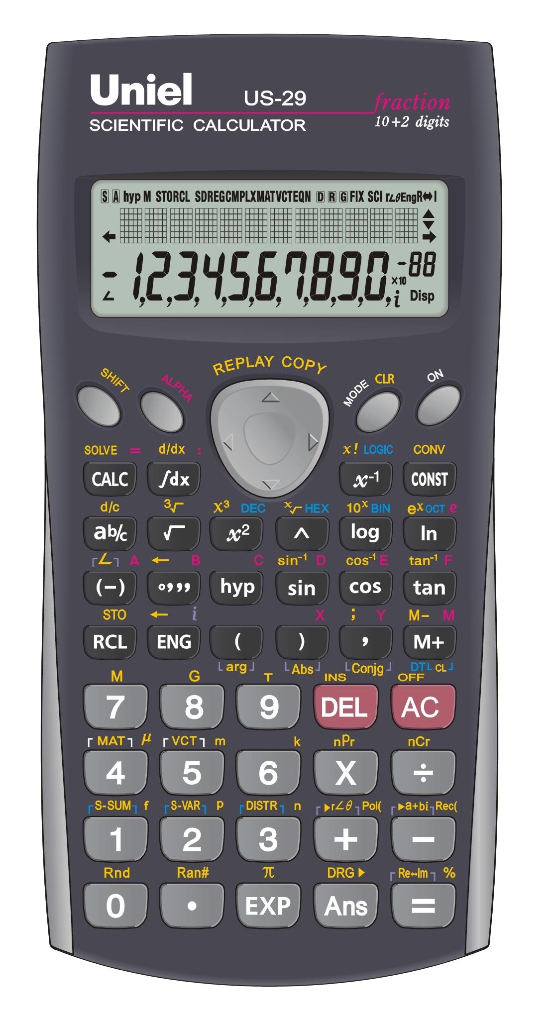 Калькулятор научный 10+2 разр. Uniel 401 функция