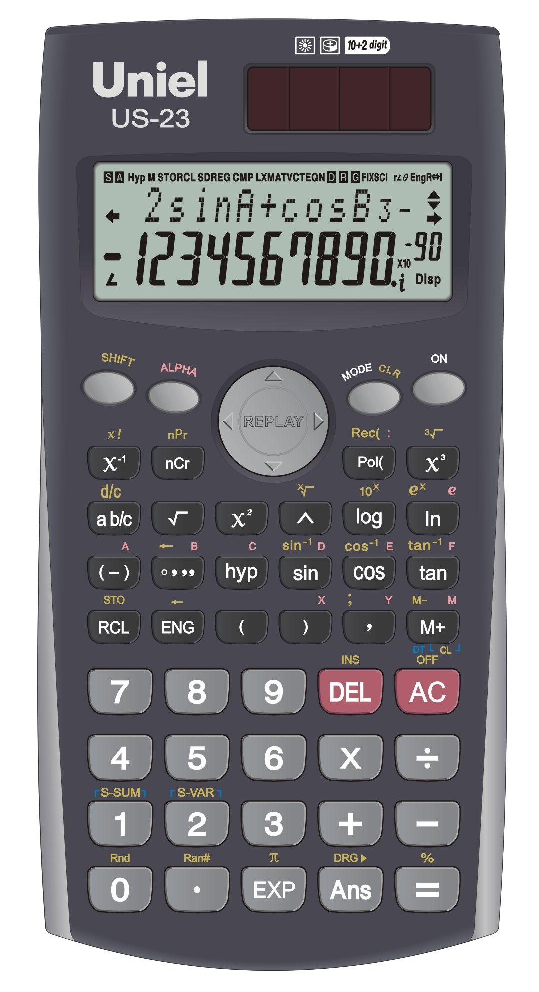 Калькулятор научный 10+2 разр. Uniel 240 функций
