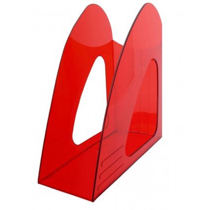 Лоток верт 1отд Hatber красный полупрозрачный