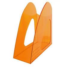 Лоток верт 1отд Hatber оранжевый полупрозрачный