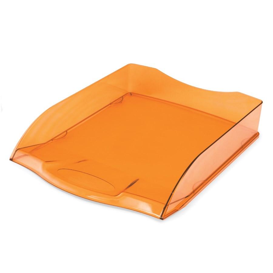 Поддон 1отд Hatber оранжевый полупрозрачный
