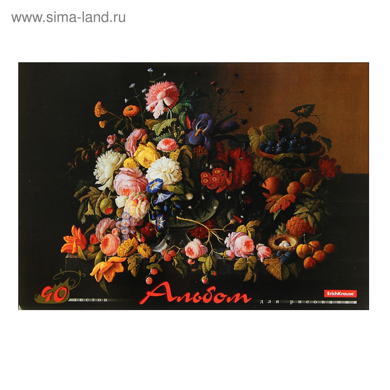 Альбом д/рис 40л EK Цветы Северного Возрождения склейка