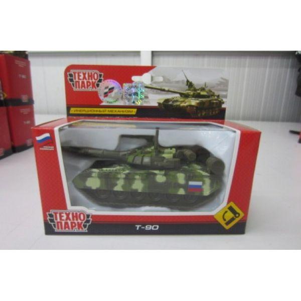 Танк T-90 12см металл инерц