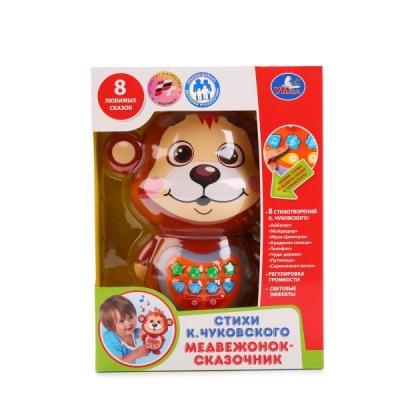 Развивающая Медвежонок-сказочник (Чуковский К.) на батар.