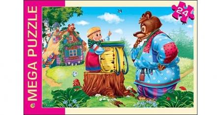 Пазл 24 Мега Маша и Медведь