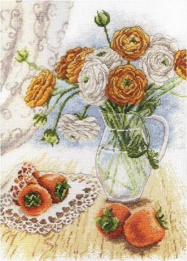 Творч Вышивка крестом 29х21 Букет садовых лютиков