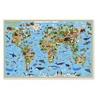 Карта: Наша планета. Животный и растительный мир 58х38см (настольная) ламин