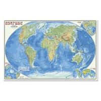 Карта: Мир. Физическая карта 1:25 млн. 124х80 см. ламинир.