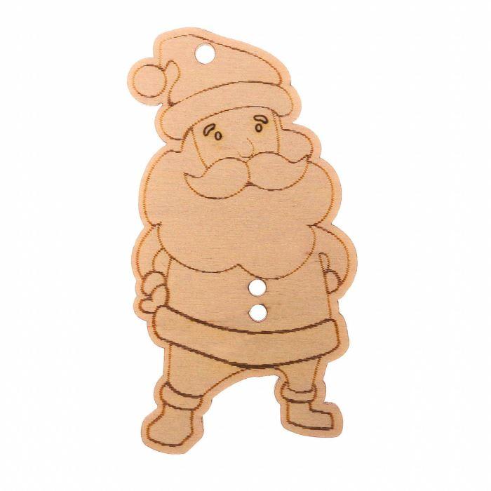 Декор Подвеска из дерева НГ Дед Мороз 10х10 см