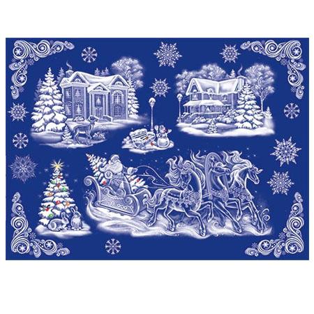 Набор 8-30-5003А Новогодний! декорат. наклейки Морозко 2 листа