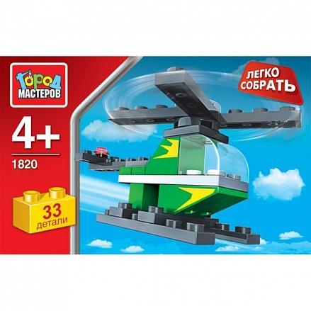 Конструктор Вертолет 33 дет. пластмас.