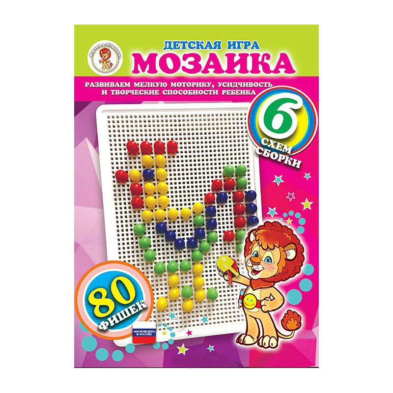 Игра Мозаика 80 фишек Петушок (зеленая)