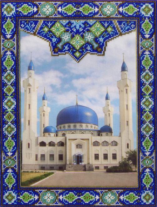 Творч Вышивка бисером на габардине 35х27 Майкопская мечеть