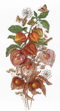 Творч Вышивка крестом 47х25 Изумрудная ягода